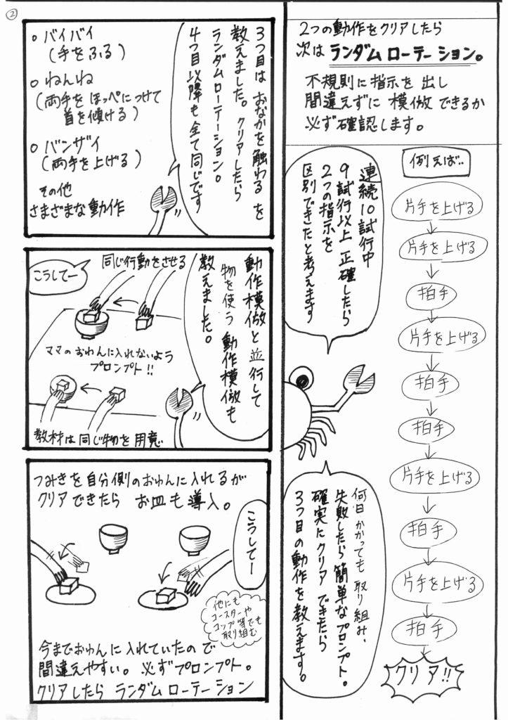 「かにママのABAセラピー」003というタイトルの漫画の2ページ目