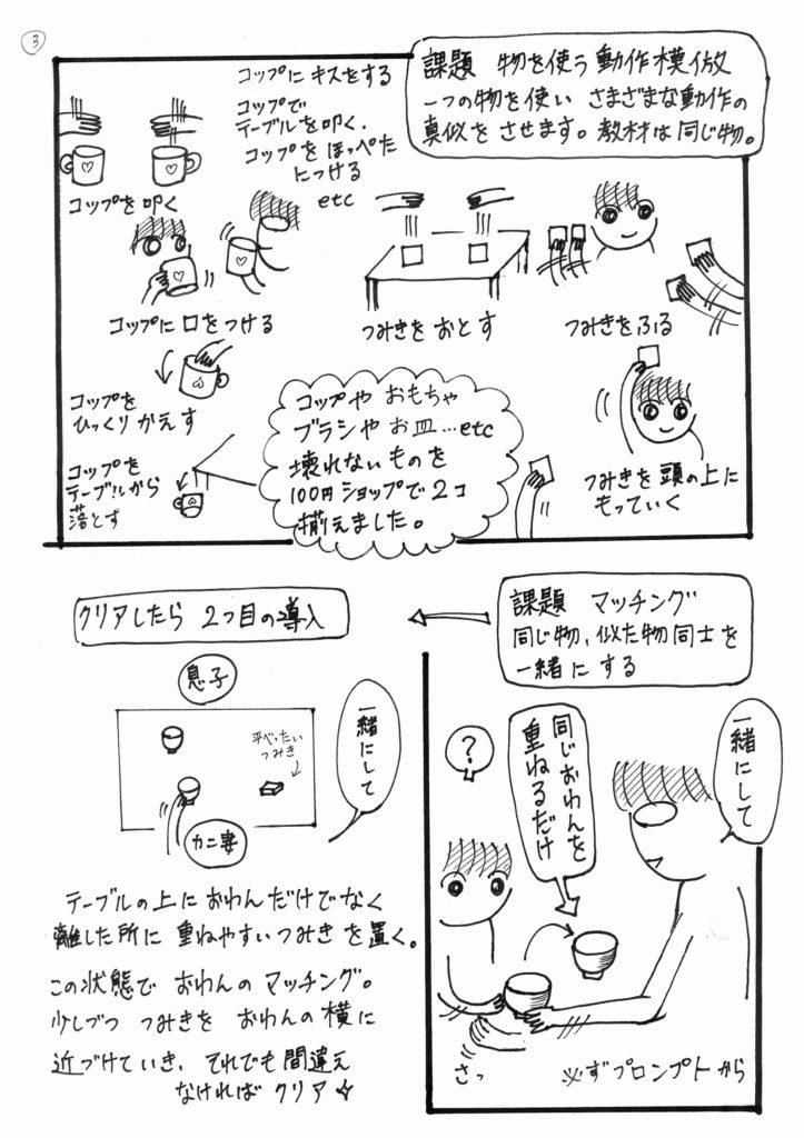 「かにママのABAセラピー」003というタイトルの漫画の3ページ目