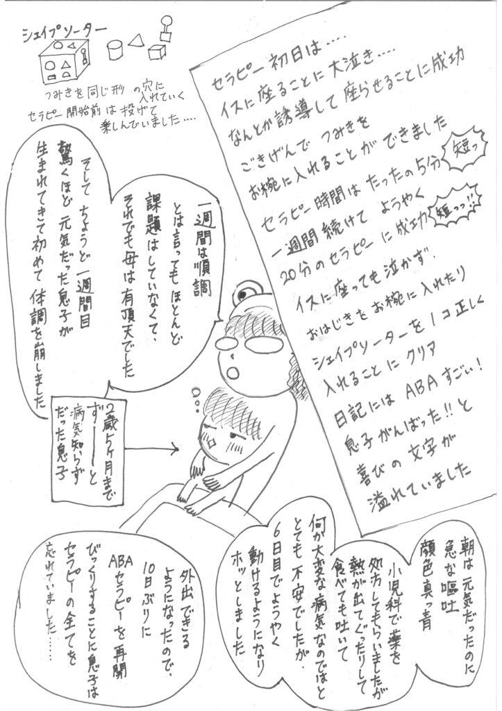 「かにママのABAセラピー」006というタイトルのマンガの2ページ目