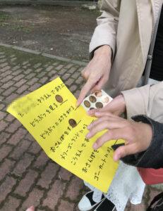 樽ケ橋遊園に出掛けるに当たって妻が作った日程表
